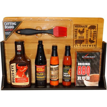 Dat'l Do It Inc. Cutting Board and Spices Holiday Gift Set, 7 pc