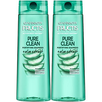 Garnier Hair Care Fructis Pure Clean Shampoo, 12.5 Fluid Ounce (Packaging May Vary), 2 Count