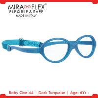 Miraflex: Baby One 44 Unbreakable Kids Eyeglass Frames | 44/16 - Dark Turquoise | Age: 6Yr - 9Yr