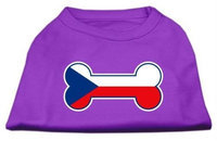 Mirage Pet Products 5111 MDPR Bone Shaped Czech Republic Flag Screen Print Shirts Purple M 12