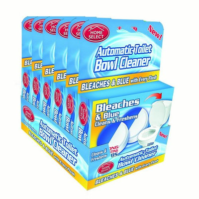 Home Select Toilet Bowl Cleaner Bleach Tablets, Blue, 2 Ct