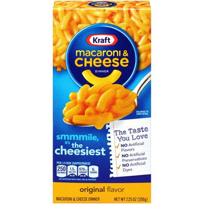 Kraft Original Flavor Macaroni & Cheese Dinner, 7.25 oz (6 Packs)