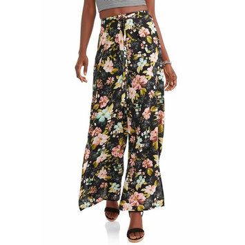 Juniors' Wide Leg Floral Pants