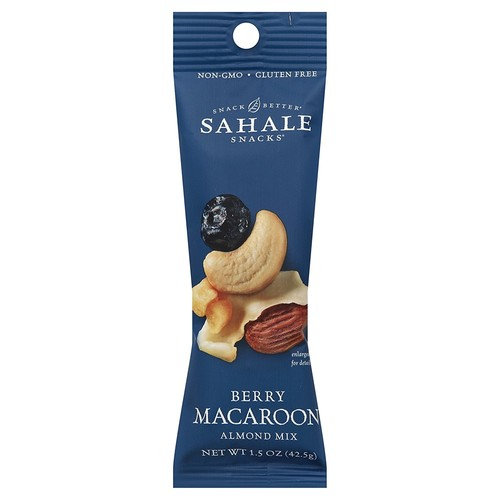 Sahale Snacks Berry Macaroon Almond Trail Mix, 1.5 oz., Pack of 9 – Healthy Nut Mix Snacks in a Grab 'n Go Pouch, No Artificial Flavors, Preservatives or Colors, Gluten-Free Snacks [Berry Macaroon Almond Mix]
