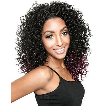 BSP05 (1 Jet Black) - Mane Concept ISIS Brown Sugar Human Hair Blend Perfect Edge Half Wig