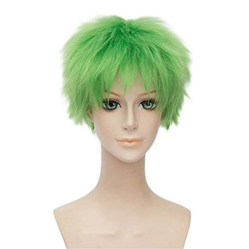 Kadiya Role Play Great Choice Cosplay Wigs Short Grass Green Boy Teens St Patricks Day Anime Hair