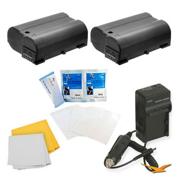 Special 2 Pack Battery Kit For The Nikon 1 V1, D600, D610, D800, D800E, D7000, D7100