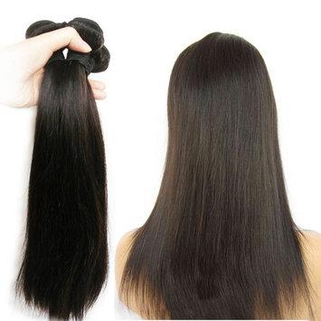 JINREN Brazilian Hair Straight 1 Bundle 12inch Unprocessed Virgin Human Hair Bundles Natural Color Brazilian Straight Hair Weaves