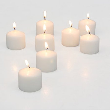 Ckk Home Decor Stonebriar Set of 72 White Unscented Long Burning Votive Candles, Candle Accessories for Birthdays, Weddings, Spas, or Everyday Home Decor, Bulk Pack