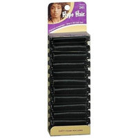 Hype Hair Foam Rollers Satin Black 24.0 ea.(pack of 12)