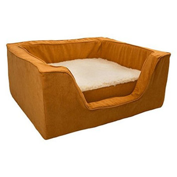 O'donnell Industries ODonnell Industries 21456 Luxury X -Large Square Dog Bed - Shona Brown Sugar-Peat
