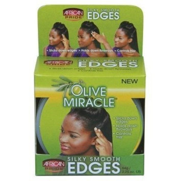 African Pride Olive Miracle Silky Smooth Edges 2.25oz (3 Pack) by African Pride