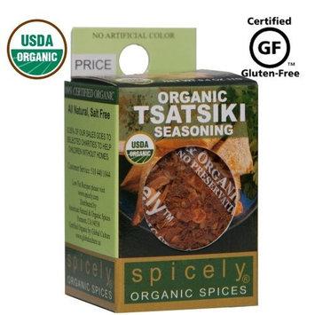 Spicely Organic Seasoning Tzatziki Greek Yogurt Dip 0.30 Ounce ecoBox Certified Gluten-Free
