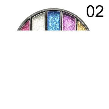 5 Colors Eyeshadow Eyebrow Combination Palette,YOYORI Waterproof and Long-Lasting Glitter Powder Eyeshadow Makeup Waterproof Brighten Pigment Eye Shadow P for Professional Makeup or Daily Use