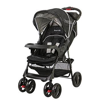 Dream On Me Wanderer Travel System Stroller and Car Seat, Black []