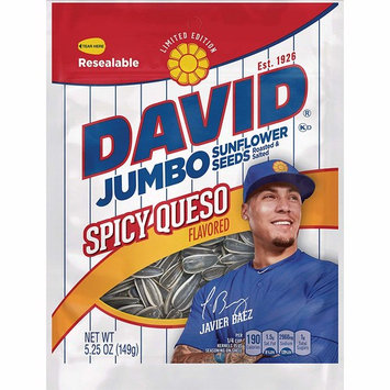 David Seeds Jumbo Sunflower, Limited Edition Javier Baez Spicy Queso, 5.25 Ounce