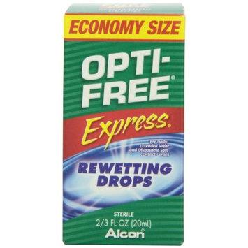 5 Pack - Opti-Free Express Rewetting Drops Economy Size .66 fl oz (20 ml) Each