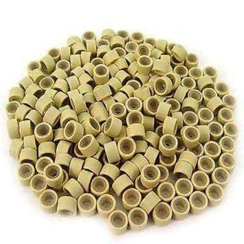FOONEE Silicone Lined Micro Rings Links Beads Linkies For Hair Extensions (Blonde Color,5mm)