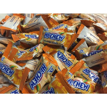 Hi-Chew - Soft and Chewy Candy from Japan Individually Wrapped Single Flavor - Two Full Pounds Bulk Wholesale (New Fizzy Orange Soda)