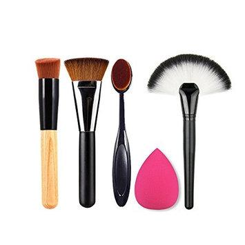 TOPBeauty Makeup Brushes Tools Kit-4Pcs Pro Face Make Up Brush+Sponges Puff
