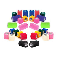 Prairie Horse Supply Vet Rap Wrap Tape, Self Adherent, Adhering Stick Bandage, Self Grip Roll - 2, 3, or 4 Inches Wide x 15 Feet - Assorted Colors, Single Roll