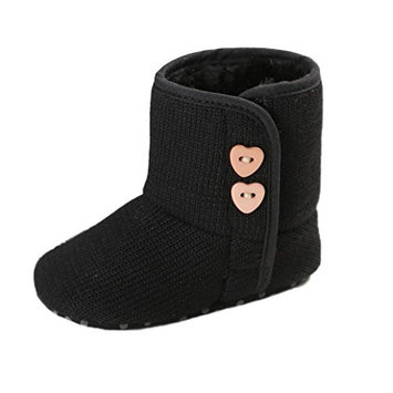 For 0-18Mnoths Girls Boys,Clode® Cute Keep Warm Infant Toddler Button Baby Boy Girl Snow Boots Soft Sole Prewalker Crib Shoes