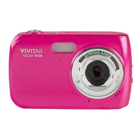 Vivitar S126 16MP 4x Zoom Compact Digital Camera - Pink.