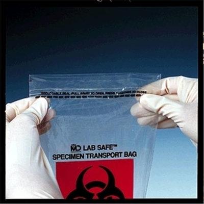 Medegen Medical MAI 49-93 8 x 8 in. Zip Closure Collection Bag - 1000 per Case