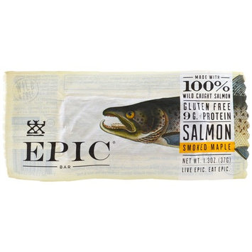 Epic Bar, Smoked Salmon Maple Bar, 12 Bars, 1.3 oz (37 g) Each [Flavor : Smoked Salmon Maple]