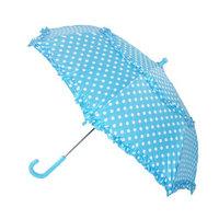 Raintec Kids Hook Handle Ruffled Polka Dot Umbrella