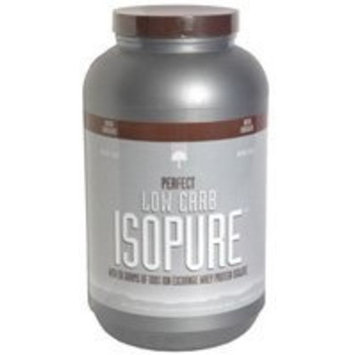Isopure Low Carb Protein Powder, 100% Whey Protein Isolate, Flavor: Dutch Chocolate, 3 Pounds (Packaging May Vary)