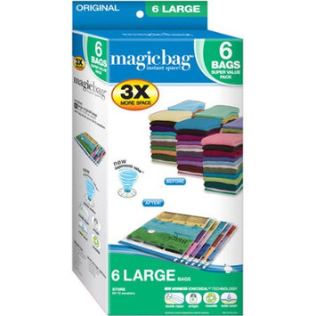 Pro-mart Industries Magicbag Original Large, Instant Space, Storage Bags, 6pk