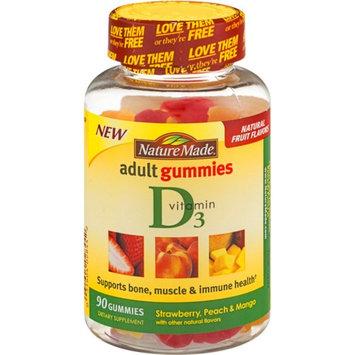 Nature Made Vitamin D3 Adult Gummies, Strawberry, Peach & Mango 90 ea