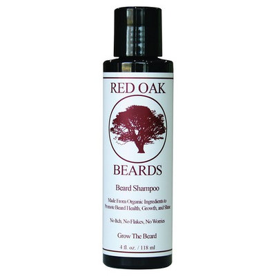 Beard Shampoo by Red Oak Beards - All Natural Beard Wash - Cleans and Conditions - Promotes Strong and Healthy Beards