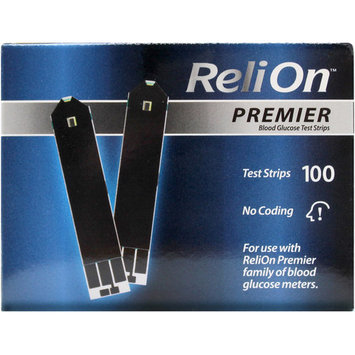 ReliOn Premier Blood Glucose Test Strips, 100 Ct