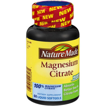Nature Made Magnesium Citrate, 60 CT (Pack of 3)