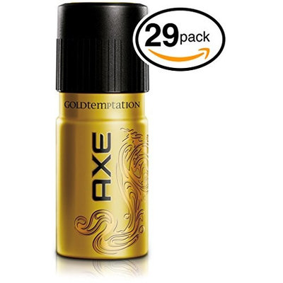 (PACK OF 29 CANS) Axe GOLD TEMPTATION Body Spray Antiperspirant & Deodorant. 48 HOUR ODOR PROTECTION! Energized & Fresh! (29 Cans, 5oz each Can): Health & Personal Care