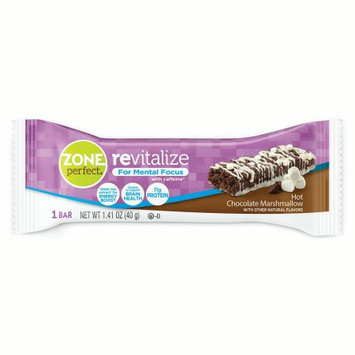 Abbott Nutrition ZonePerfect Revitalize Energy Bars, with Caffeine For Mental Focus, Hot Chocolate Marshmallow, 1.41 oz, 30 count