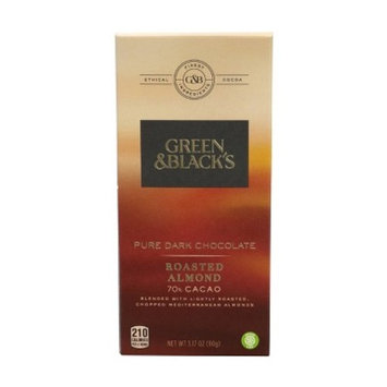 Green & Black's Roasted Almond 70% Cacao Pure Dark Chocolate Candy Bar - 3.17oz