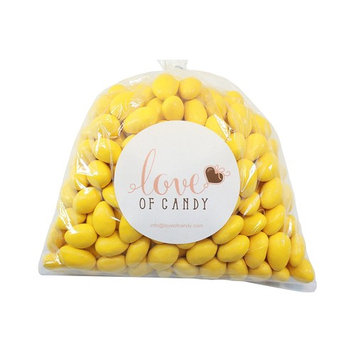 Love of Candy Bulk Candy - Yellow Chocolate Almonds - 5lb Bag [Yellow]
