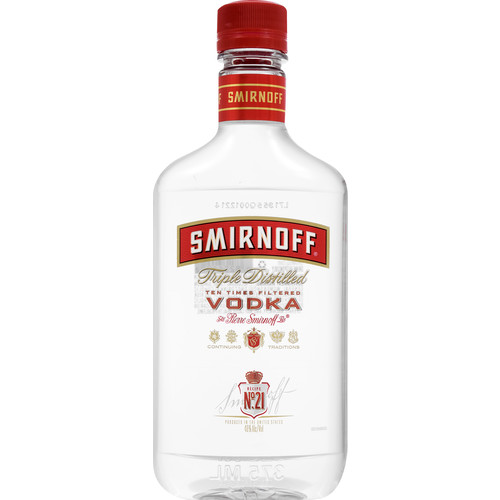 Smirnoff® No. 21 Triple Distilled 80 Proof Vodka, 375 mL (Plastic)