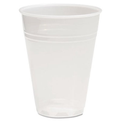 Boardwalk BWKTRANSCUP7PK Translucent Plastic Hot & Cold Cups; 7 oz.; 100 Per Pack