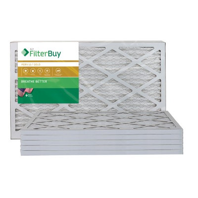 AFB Gold MERV 11 14x27x1 Pleated AC Furnace Air Filter. Filters. 100% produced in the USA. (Pack of 6)