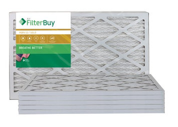 AFB Gold MERV 11 13x24x1 Pleated AC Furnace Air Filter. Filters. 100% produced in the USA. (Pack of 6)