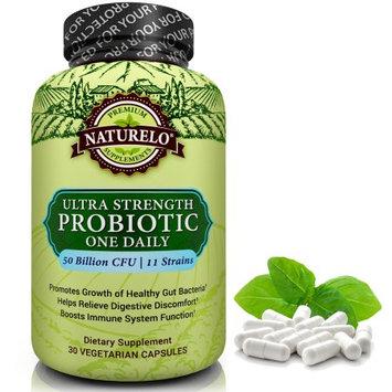 Naturelo Probiotic Supplement - Ultra Strength Probiotics - 50 Billion CFU - 11 Strains - No Refrigeration Needed - 30 Capsules