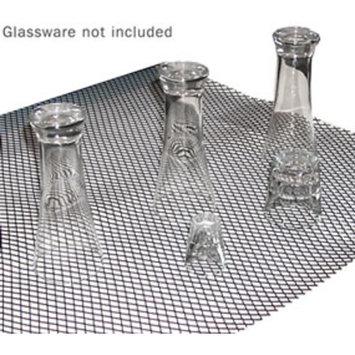 Sani-Dry Bar Glass Shelf Liner - Black - Roll of 40 Feet