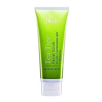 MUST BUY ! 2 Tube COSWAY Bioglo Tea Tree Facial Scrub For Oily & Combination Skin ( 100g )