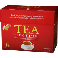 Tea Section Organic Black Tea 50 Bags - Case of 6