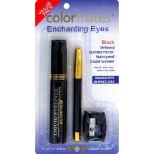 Colormates Enchanting Eyes Black Eyeliner Value Pack – Pencil & Liquid Eyeliner, Sharpener