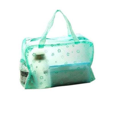 So Beauty Crystal Multipurpose Floral Comestic Makeup Beauty Storage Grid Transparent Travelling Bath Bag